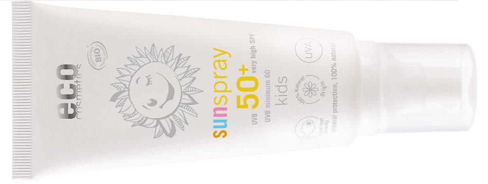 eco cosmetics Sonnenspray LSF50+ Kids