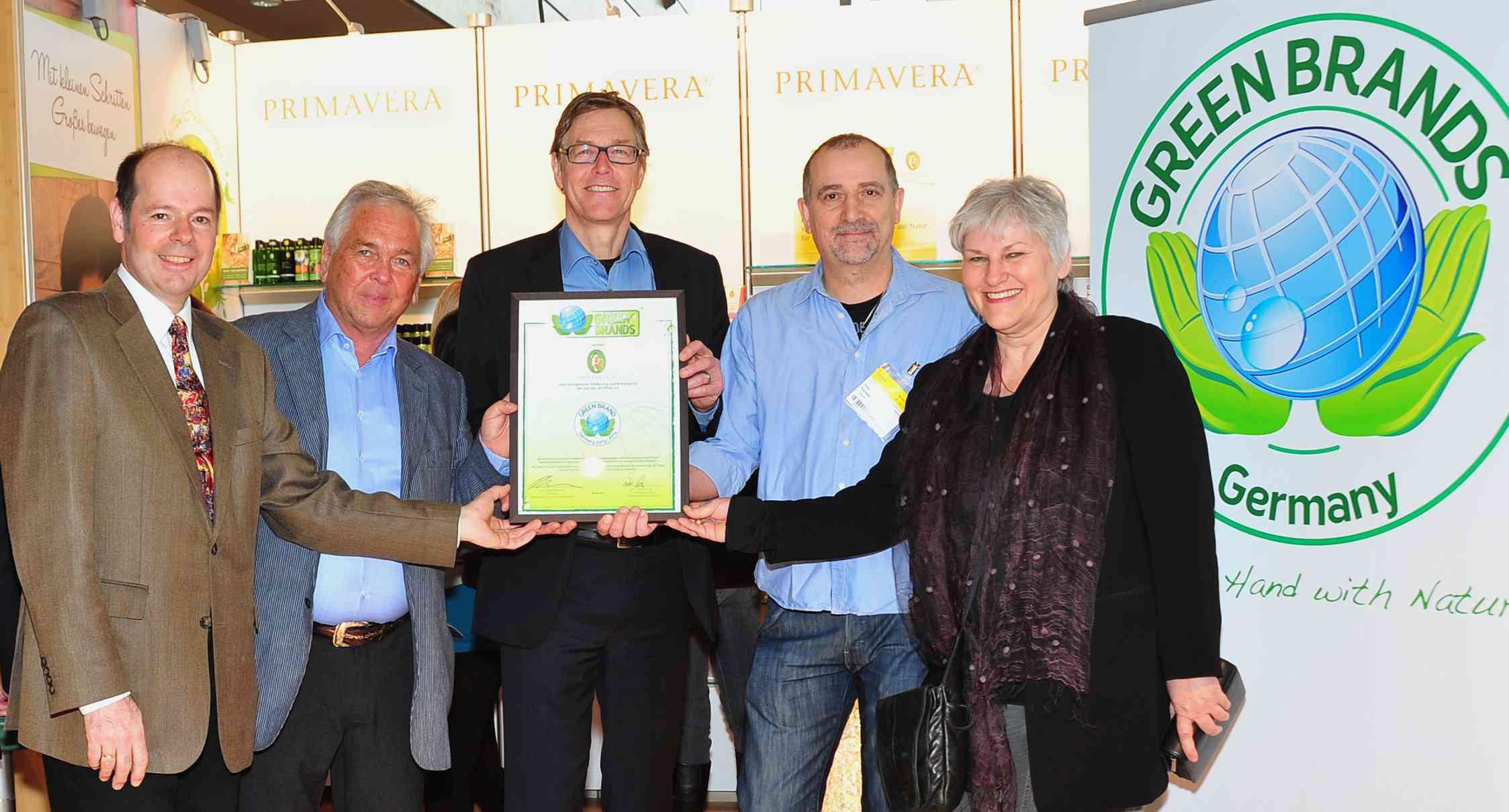 GREEN BRANDS Verleihung Primavera Februar 2013